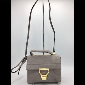 Coccinelle Lilac Suede Arlettis Mignon Satchel Bag